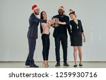 the happy business people in... | Shutterstock . vector #1259930716