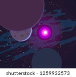 2d illustration. cartoon cosmos ... | Shutterstock . vector #1259932573