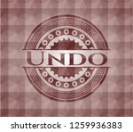 undo red seamless emblem with... | Shutterstock .eps vector #1259936383