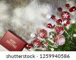christmas background with fir... | Shutterstock . vector #1259940586