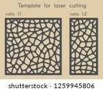 stencil for panels of wood ... | Shutterstock .eps vector #1259945806