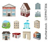 vector design of building and... | Shutterstock .eps vector #1259947306