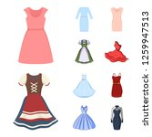 vector design of dress and... | Shutterstock .eps vector #1259947513