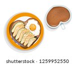 white ceramic heart shaped cup... | Shutterstock .eps vector #1259952550