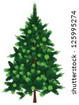 vector fir tree | Shutterstock .eps vector #125995274
