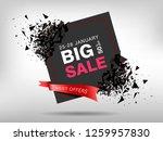 big sale abstract banner... | Shutterstock .eps vector #1259957830