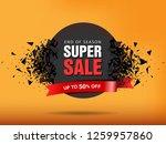 super sale abstract banner... | Shutterstock .eps vector #1259957860