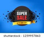 super sale abstract banner... | Shutterstock .eps vector #1259957863