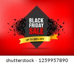 black friday sale abstract... | Shutterstock .eps vector #1259957890