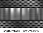 metal plate on perforated... | Shutterstock .eps vector #1259961049