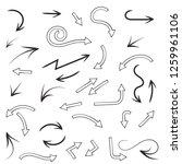 arrows set. compilation of... | Shutterstock .eps vector #1259961106