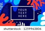 underwater ocean banner with... | Shutterstock .eps vector #1259963806