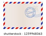 blank envelope with air mail... | Shutterstock . vector #1259968363