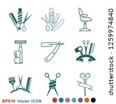 barber icon vector  for web and ... | Shutterstock .eps vector #1259974840