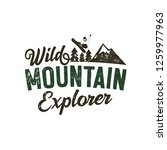 wild muntain explorer badge... | Shutterstock .eps vector #1259977963