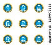 personnel icons set. flat set...   Shutterstock . vector #1259979853