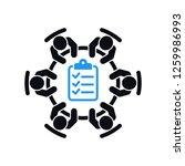 business meeting agenda icon....   Shutterstock .eps vector #1259986993
