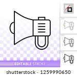 megaphone thin line icon.... | Shutterstock .eps vector #1259990650