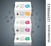 five paper business origami... | Shutterstock .eps vector #1259998813