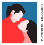 romantic concept. couple in... | Shutterstock .eps vector #1260003646