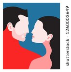 romantic concept. couple in... | Shutterstock .eps vector #1260003649