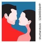 romantic concept. couple in... | Shutterstock .eps vector #1260003649