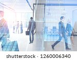 business people walking and... | Shutterstock . vector #1260006340