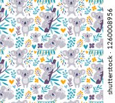 vector seamless pattern with... | Shutterstock .eps vector #1260008956