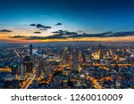 aerial view of bangkok... | Shutterstock . vector #1260010009
