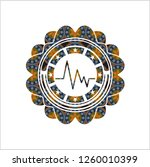 electrocardiogram icon inside... | Shutterstock .eps vector #1260010399