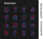 heart attack symptoms thin line ... | Shutterstock .eps vector #1260015256