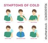 cold or flu symptoms... | Shutterstock .eps vector #1260030556