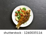 Cooked Grilled Fish With...