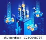 technology isometric concept.... | Shutterstock .eps vector #1260048739