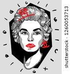 dec. 17  2018  coco chanel.... | Shutterstock .eps vector #1260053713