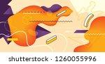 modern abstract wallpaper... | Shutterstock .eps vector #1260055996