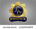 shiny emblem with... | Shutterstock .eps vector #1260056809