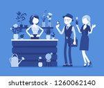 flower shop lady sells ... | Shutterstock .eps vector #1260062140