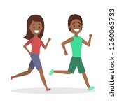 couple of jogger run together.... | Shutterstock .eps vector #1260063733