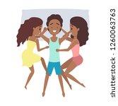 handsome happy man seep with... | Shutterstock .eps vector #1260063763