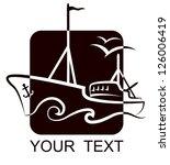 design a fishing vessel for... | Shutterstock .eps vector #126006419