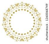golden pineapple. glitter frame.... | Shutterstock .eps vector #1260068749