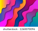 abstract waves cut from paper....   Shutterstock .eps vector #1260070096