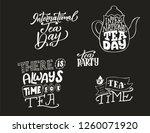 international tea day poster.... | Shutterstock .eps vector #1260071920