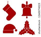 set christmas icons. christmas... | Shutterstock .eps vector #1260074023