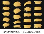 set of hand drawn golden grunge ... | Shutterstock .eps vector #1260076486