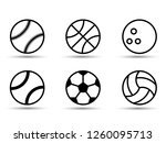 set of black and white sports... | Shutterstock .eps vector #1260095713