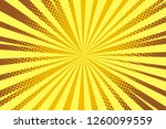 pop art yellow background ... | Shutterstock .eps vector #1260099559