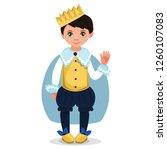 children dressed in carnival... | Shutterstock .eps vector #1260107083