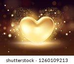 golden heart background. st... | Shutterstock .eps vector #1260109213